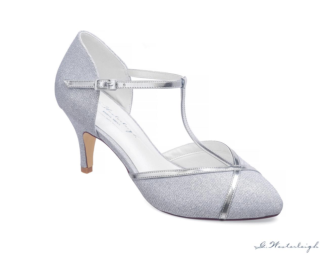 G. Westerleigh Zara Silber Brautschuhe