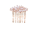 FS0029RG Rose gold Hair comb1